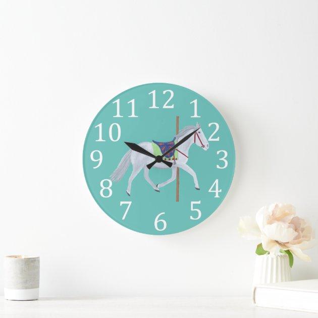 Carousel Horse Clock For Baby Nursery Room Zazzle Com