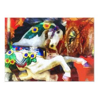 Carousel Horse Closeup 5x7 Paper Invitation Card