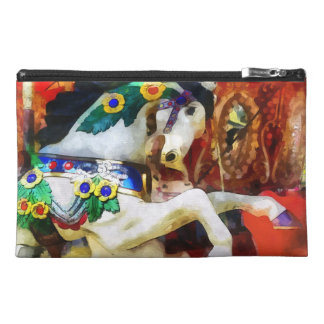 Carousel Horse Closeup Travel Accessories Bags