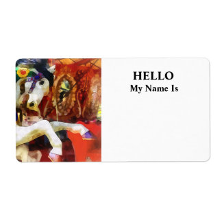 Carousel Horse Closeup Personalized Shipping Labels