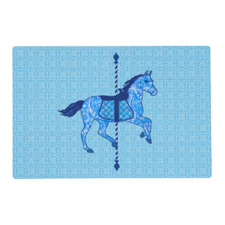 Carousel Horse - Cobalt and Sky Blue Placemat