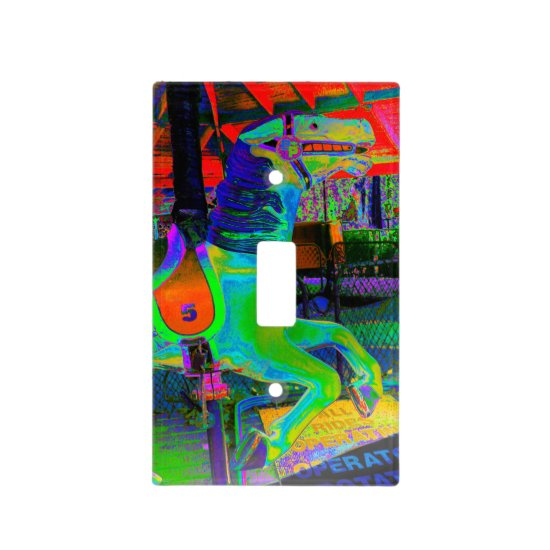 [Carousel Horse] Colorful Wall Plate Switch Cover