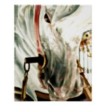 Carousel Horse Face Poster