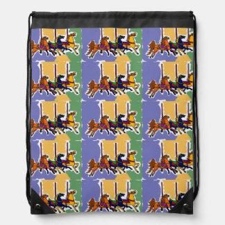 Carousel Horse Folk Art Backpack