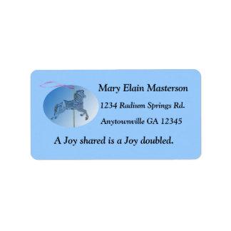 Carousel Horse Fun Custom Address Label