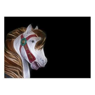 Carousel horse head large business card