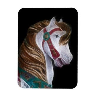 Carousel horse head vinyl magnet
