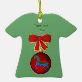 Carousel Horse Holiday Customizable Ornament