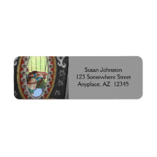 Carousel Horse In Mirror Address Label