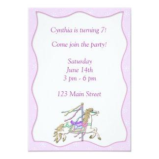 Carousel Horse Invitation