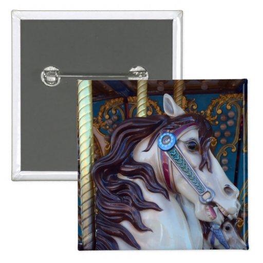Carousel Horse Joy 2 Inch Square Button