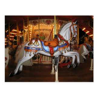Carousel horse, Karusellpferd Postcard
