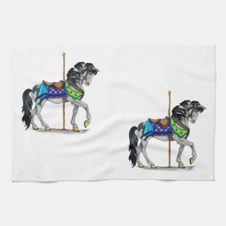 Carousel Horse Hand Towels