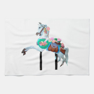 """""""CAROUSEL HORSE KITCHEN TOWEL"""" TOWELS"""