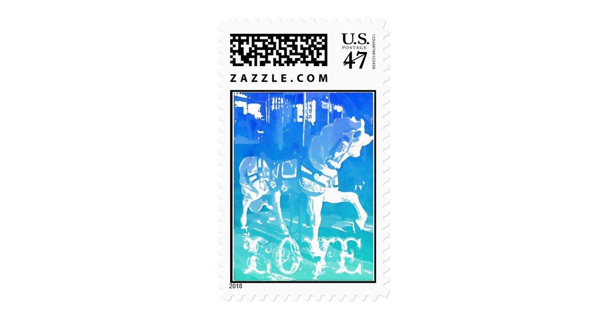 carousel_horse_love_wedding_postage_stamps r966154010dc743079cff5410ff324537_6b7fj_8byvr_630