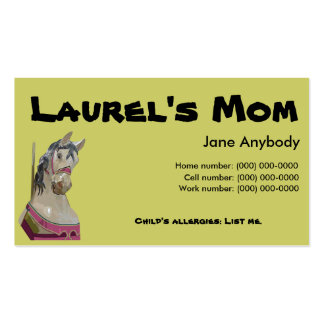 Carousel Horse Mom Card Double-Sided Standard Business Cards (Pack Of 100)
