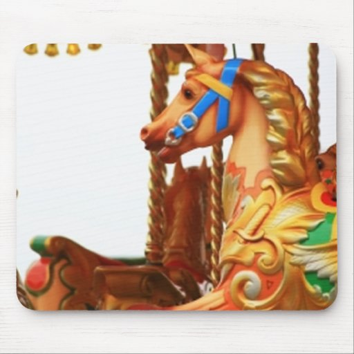 Carousel Horse Mouse Pads