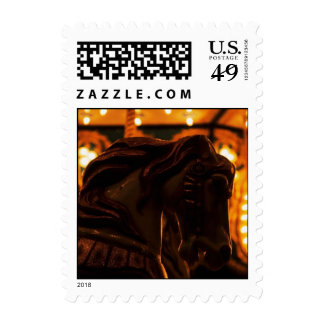 Carousel Horse Night Merry-Go-Round Carnival Stamp