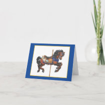Carousel horse note card