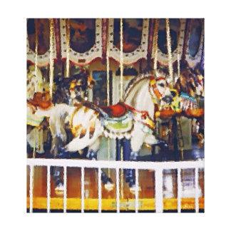Carousel Horse on Canvas Canvas Print