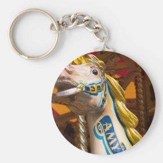 Carousel horse on merry goround keychain
