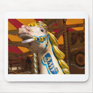 Carousel horse on merry goround mouse pad