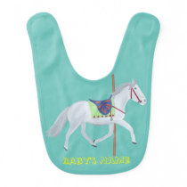 Carousel Horse Personalized Baby Bibs