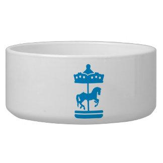 Carousel Horse Dog Food Bowls