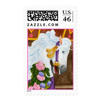 Carousel Horse Postage Stamp