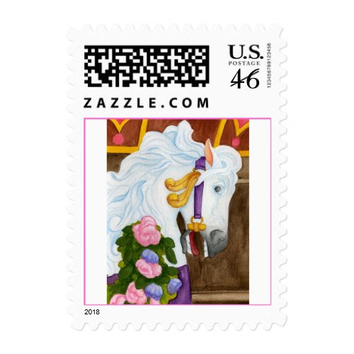 Carousel Horse Postage Stamp stamp