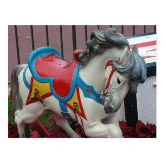 Carousel Horse Postcard