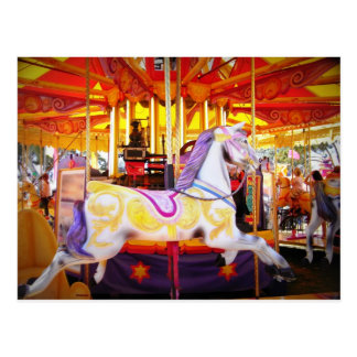 Carousel Horse postcard, party invite, carnival Postcard