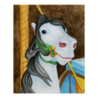 Carousel Horse Poster print