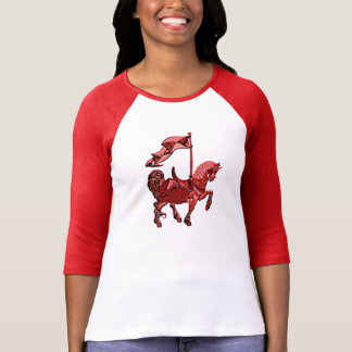 carousel horse_red shirt