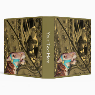 Carousel Horse Sepia And Partial Color Binder