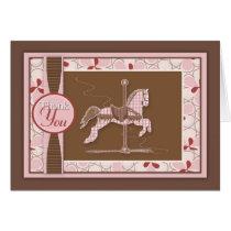Carousel Horse Thank You Card