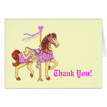 Carousel Horse Thank You Card
