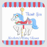 Carousel Horse Thank You Square Sticker