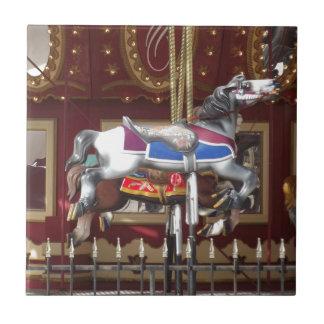 Carousel Horse Small Square Tile