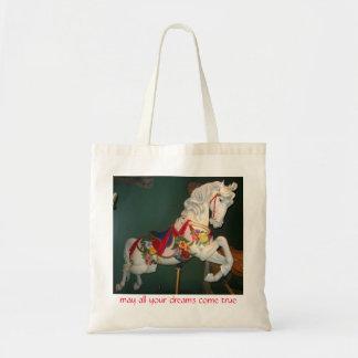 Carousel Horse Tote Bags