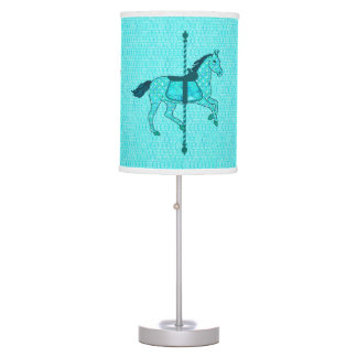 Carousel Horse - Turquoise and Aqua Table Lamps