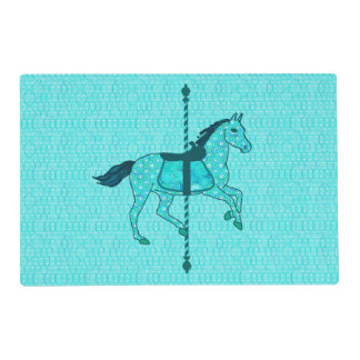 Carousel Horse - Turquoise and Aqua Placemat