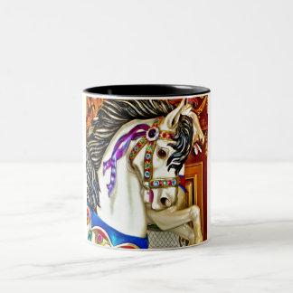 Carousel Horse Two-Tone Coffee Mug