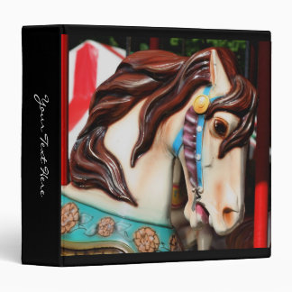 Carousel Horse Up Close 3 Ring Binder