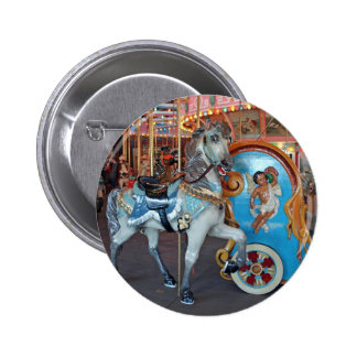 Carousel Horse with Cherub! Pinback Buttons