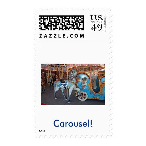 Carousel Horse with Cherub! Postage