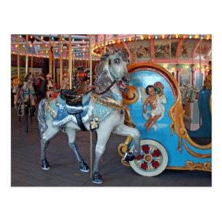 Carousel Horse with Cherub! Postcard
