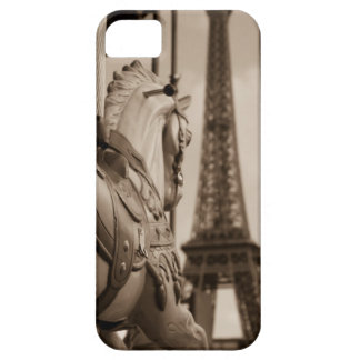 Carousel Horse with Eiffel Tower iPhone 5/5S case