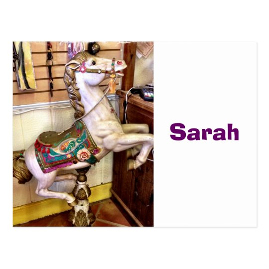 Carousel Horse with Kids Name Seating Cards