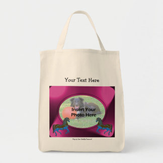 Carousel Horses Add Your Photo Template Tote Bag